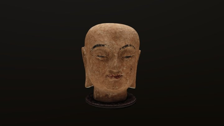 Buddha's Head 3D Model