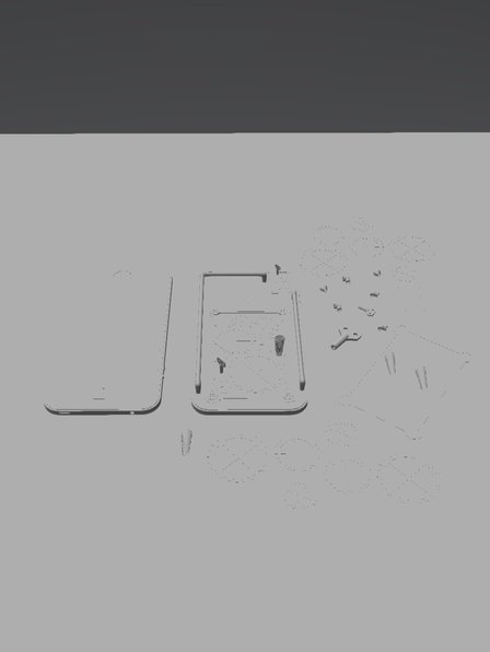 PROJETO - IPHONE 4S STEAMPUNK 3D Model