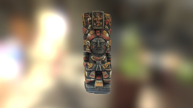 Large Mayan Statue 3D Model