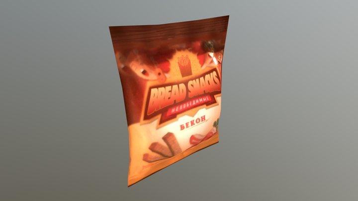 Bread snacks 3D Model