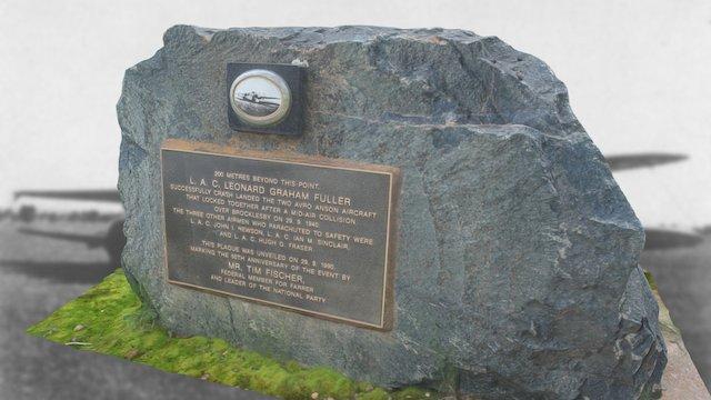 Avro Anson Landing Memorial, Brocklesby 3D Model