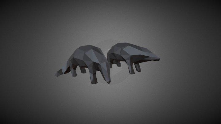Pangolins Preview 3D Model