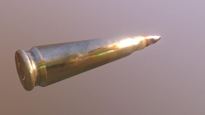 Sniper Bullet Low Poly 3D Model