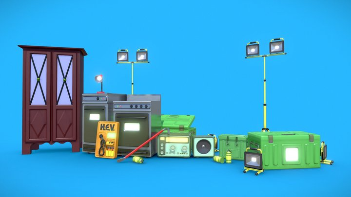 Half Life 2 - Lowpoly Mixed Pack 3D Model