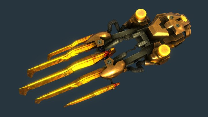 Wildstar Stalker Claws (Realistic) 3D Model