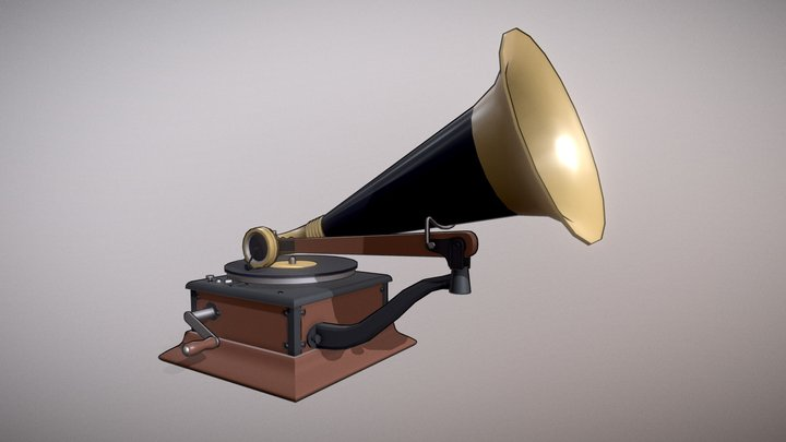 Gramophone draft 3D Model