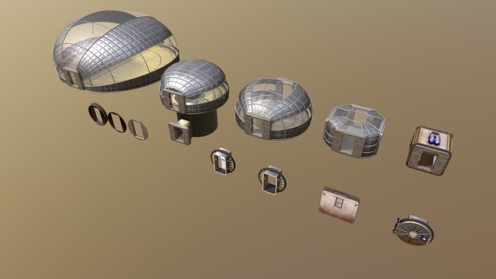 Tharsis Facility - Modules 3D Model