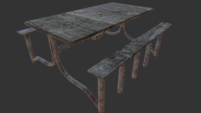 Mental Asylum - Canteen Table 3D Model