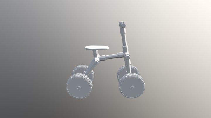4 Wheel Bike V3 3D Model