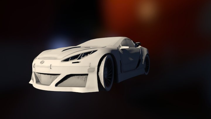 Lexus LFA Custom 3D Model