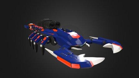 Zoids Death Stinger - Walk Cycle 3D Model