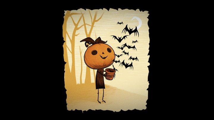 Pumpkin Boy 3D Model