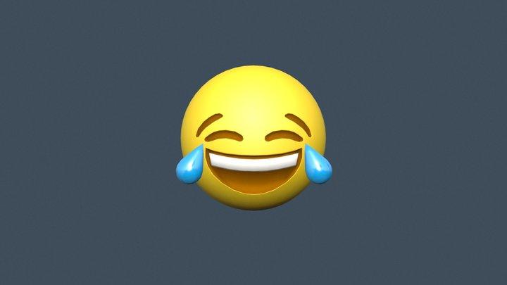 😂 Tears of Joy emoji (Low poly) 3D Model
