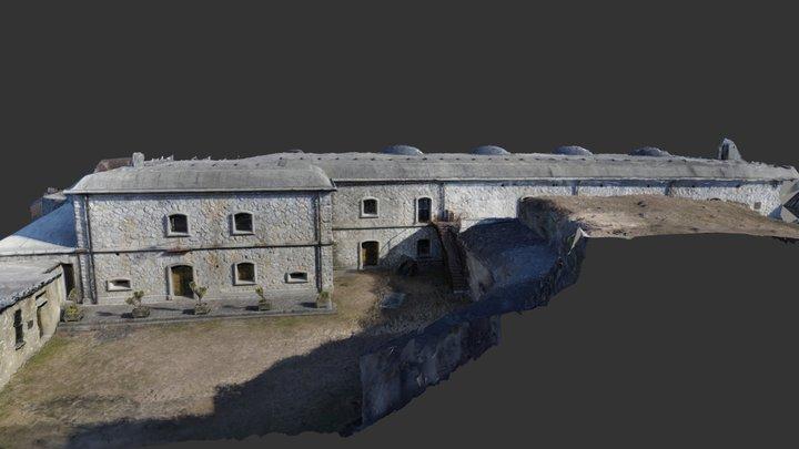 Prospetto del Forte Montecchio Nord di Colico 3D Model