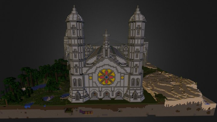 Minecraft Cathedral (LBPhotoRealism Pack) 3D Model