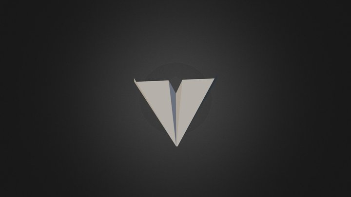 Paper Airplane 3D Model