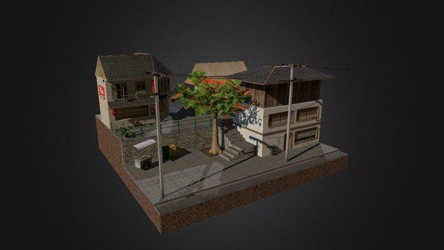 WIP Bangkok Cityscene 3D Model