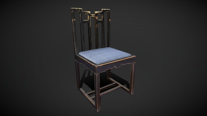 Chair from Chinese Room - MC/F/082 3D Model