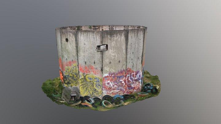 Мурал колодца 3D Model