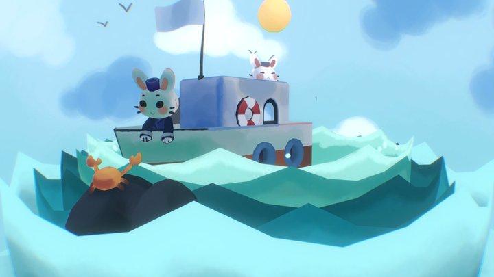 Bunny Boat 🐰⛵️ 3D Model