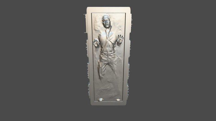 Han Solo In Carbonite 3D Model
