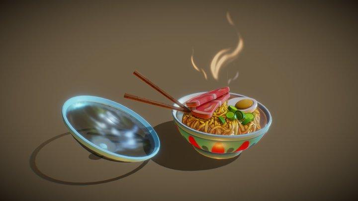Ponyo Ramen Bowl 3D Model