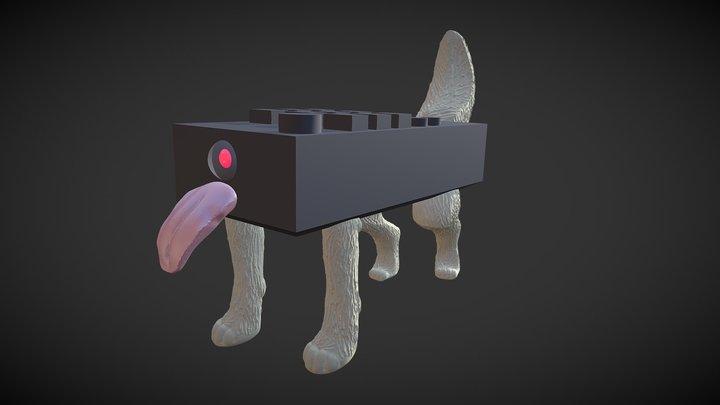 "Sculpt January18 day28: ,,cyber"" 3D Model"