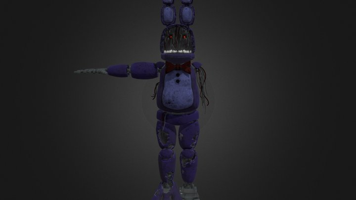 Withered Bonnie   Help Wanted 3D Model