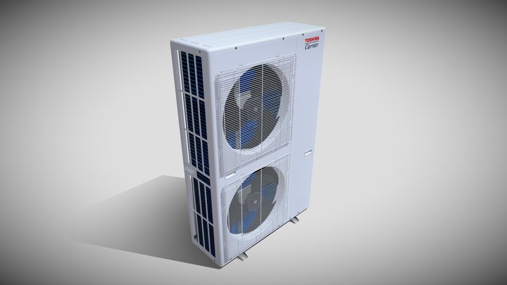 Toshiba Carrier VRF Heat Pump Outdoor Unit 3D Model
