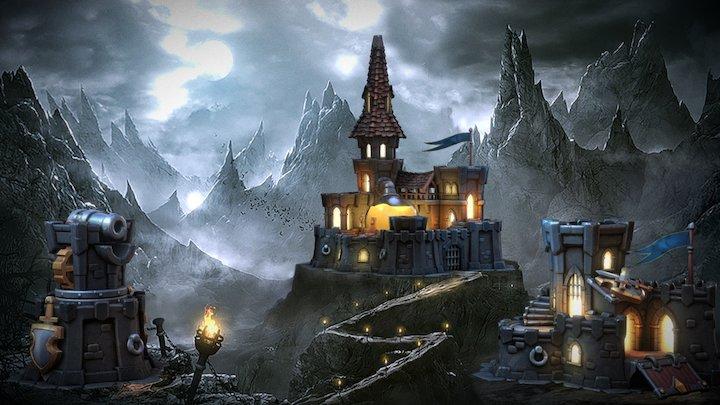 Dark Town 3D Model