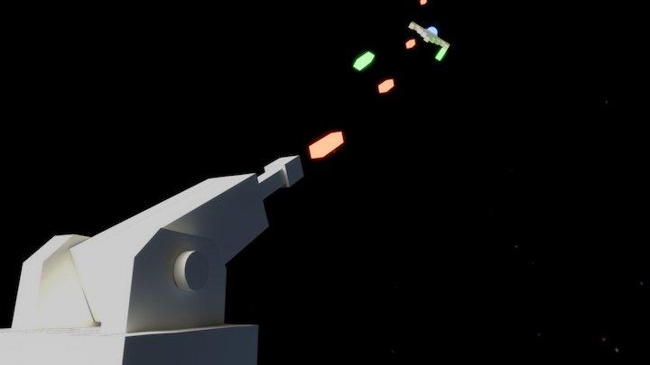 Arcade Space Battle Turrent 3D Model