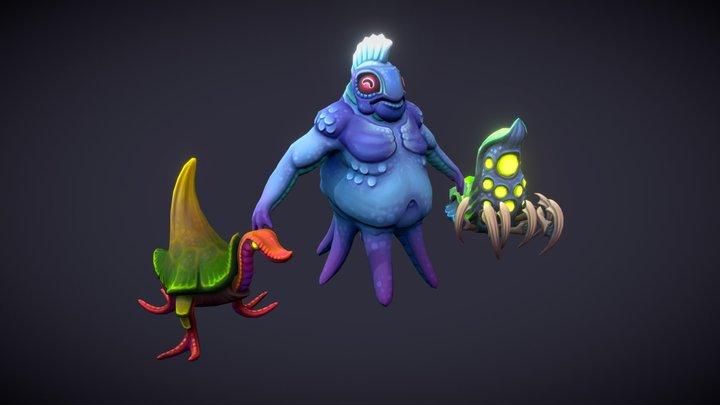 Monster design tests. 3D Model