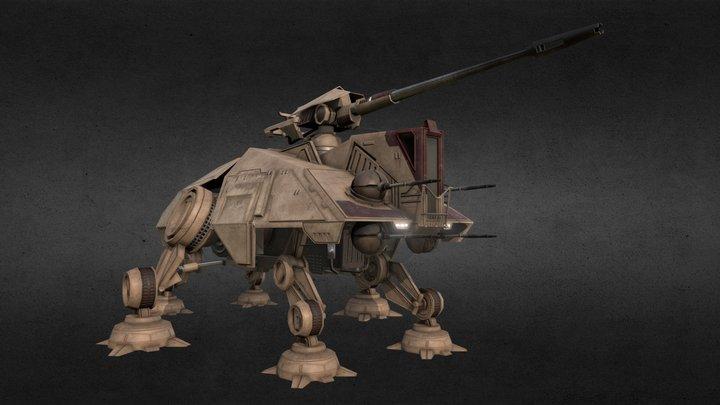 Republic All Terrain Tactical Enforcer (AT-TE) 3D Model