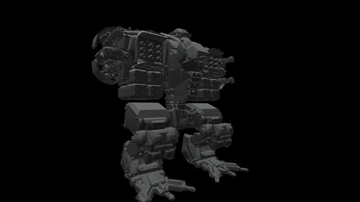 Storm Bringer Mecha Victor Bravo 3D Model