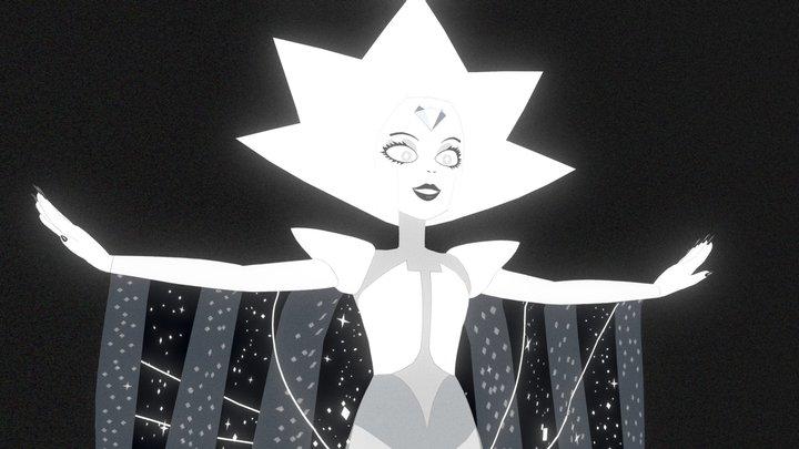 Steven Universe - White Diamond 3D Model