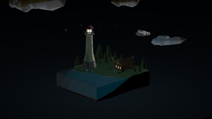 Lowpoly Lighthouse! 3D Model