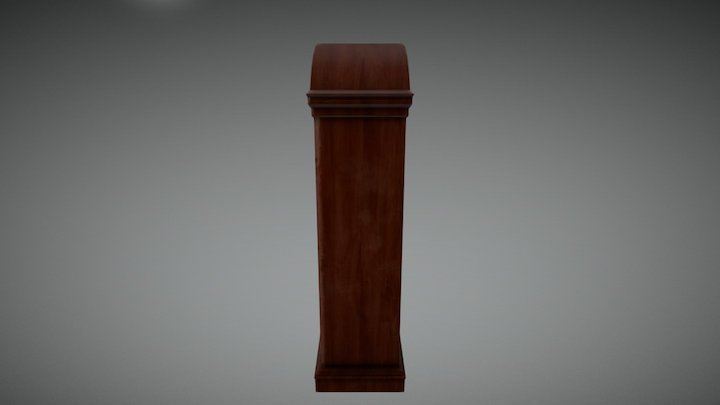 Bookshelf & Clock 3D Model
