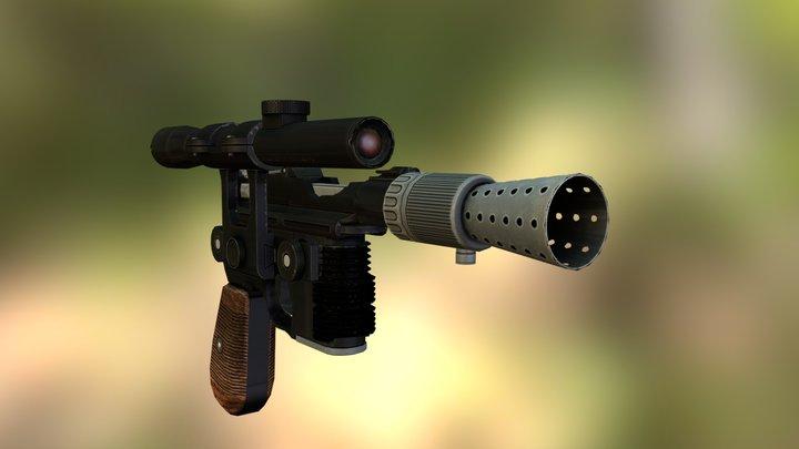 Han Solo's DL-44 Heavy Blaster Pistol 3D Model