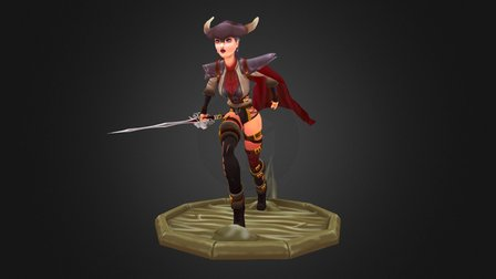 Valencia the Vengeful Matadora 3D Model