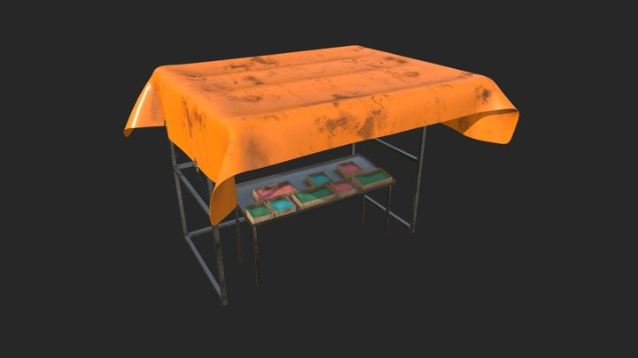 Spice stall / Sleeping Dogs Universe 3D Model