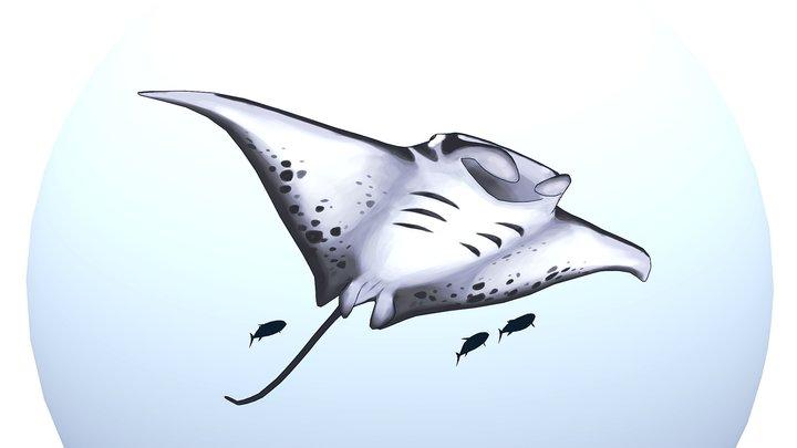 Manta ray bubble 3D Model