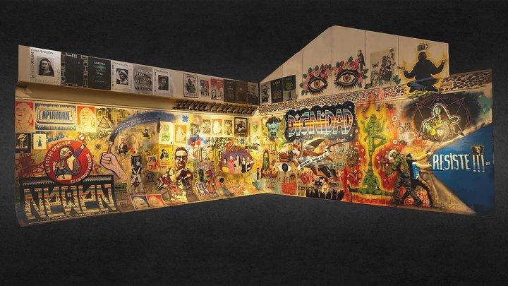 Mural por la Dignidad del Pueblo Chileno 3D Model