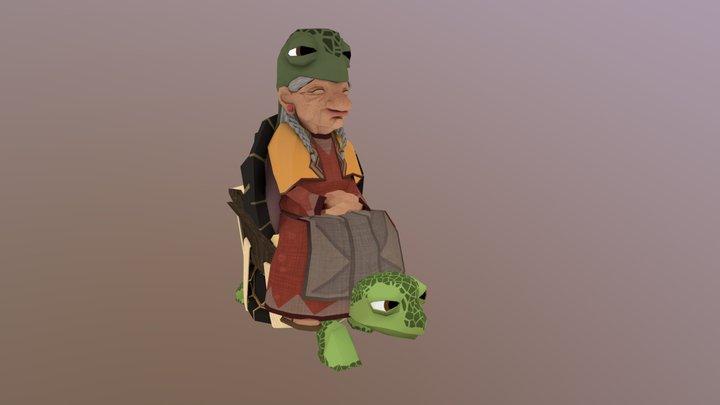 Elder Tortoise - Walk 3D Model