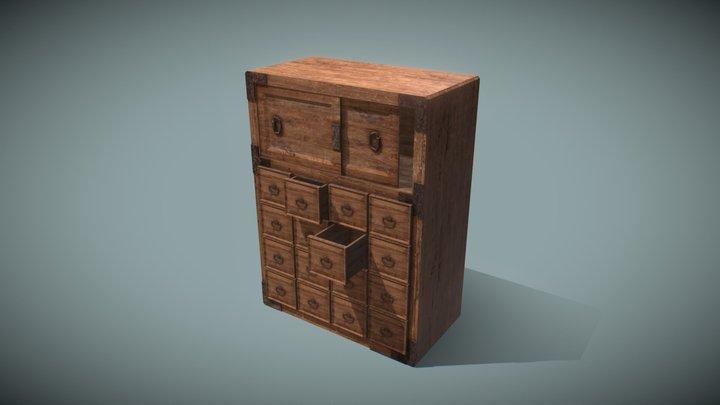 "cupboard  ""Japanese traditional Cupboard"" 3D Model"