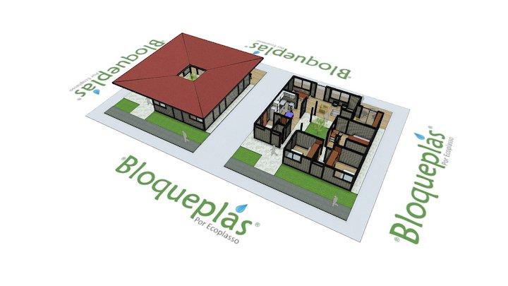 Casa Patio Bloqueplas - Courtyard House 3D Model