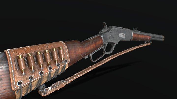 Winchester 1873 Free Model 3D Model