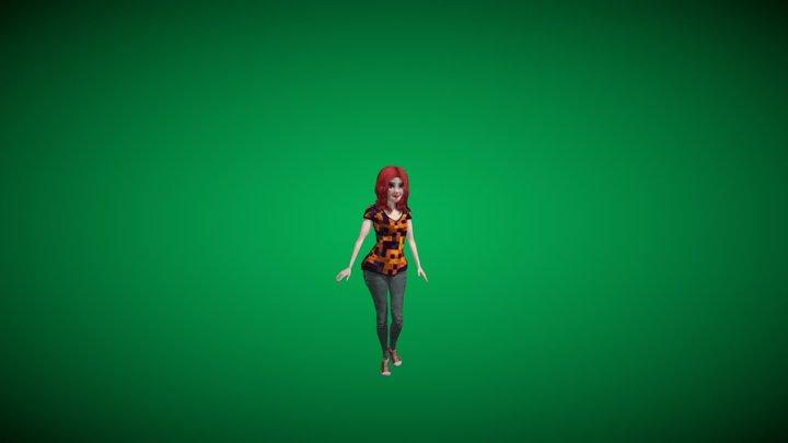 Arabella Walking. 3D Model