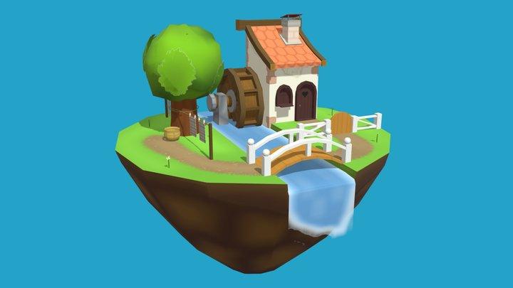Farmhouse Diorama 3D Model
