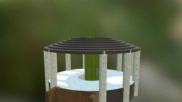 Crystal Temple 3D Model
