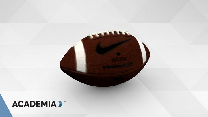 Football scanned with ACADEMIA 50 3D Model